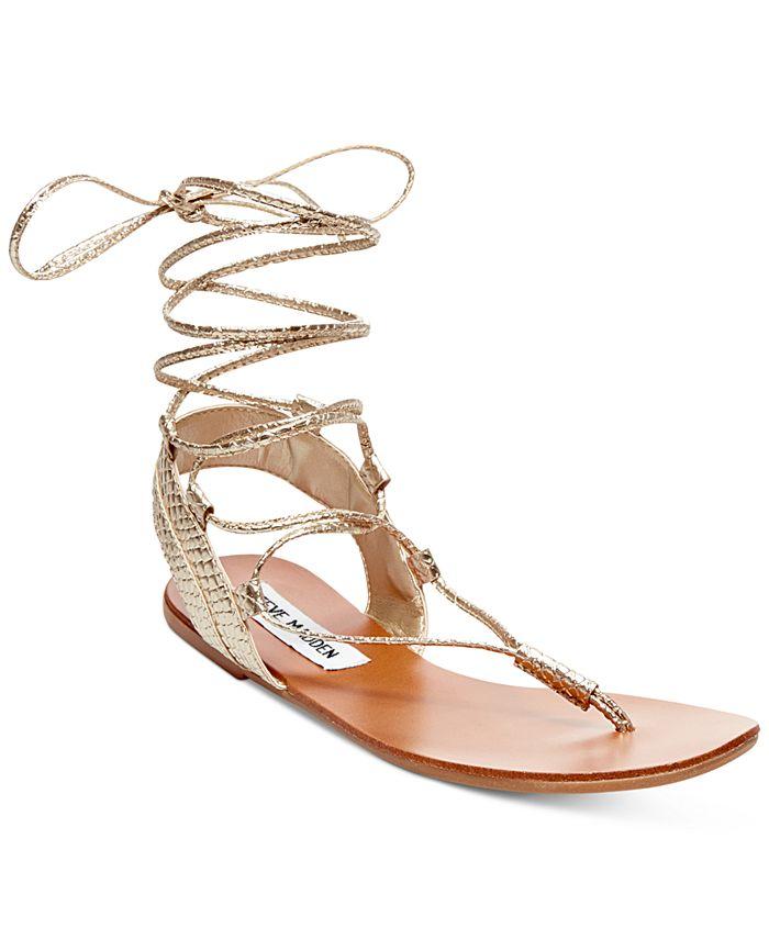 Steve Madden - Walkitt Lace-Up-Leg Sandals
