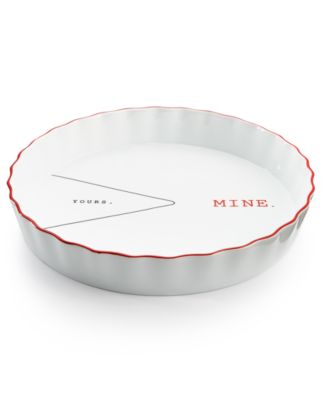 The Cellar Words Collection Yours & Mine Pie Plate, Only at Macy's