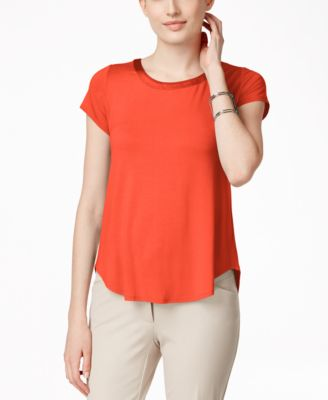 Image of Alfani High-Low T-Shirt
