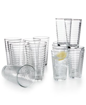 Libbey 16-Pc. Hoops Cooler & Double Old-Fashioned Glasses