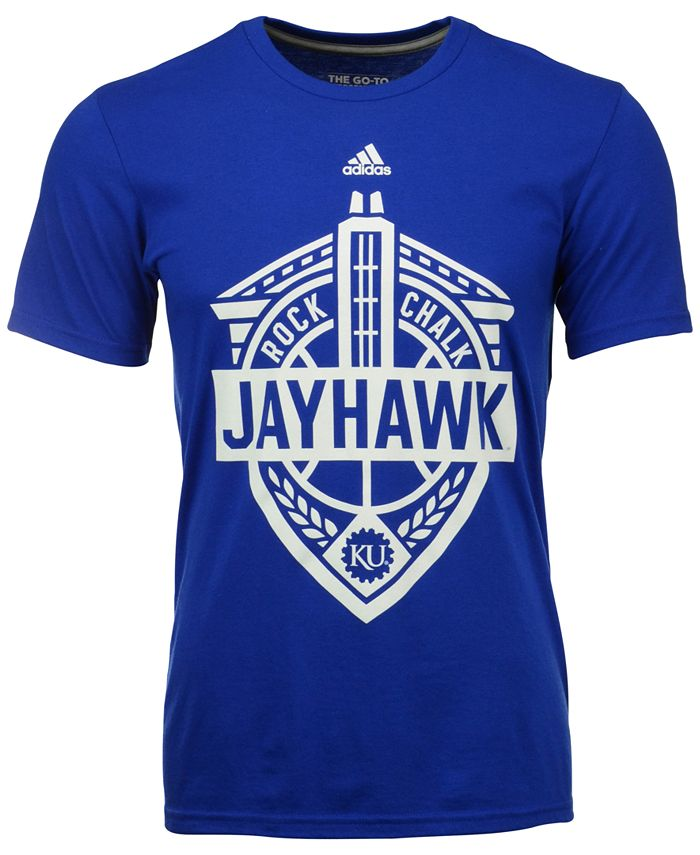 adidas - Men's Kansas Jayhawks Landmark Crest Performance T-Shirt
