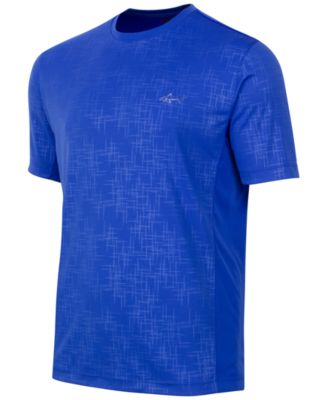 Image of Greg Norman for Tasso Elba Men's Embossed Performance T-Shirt