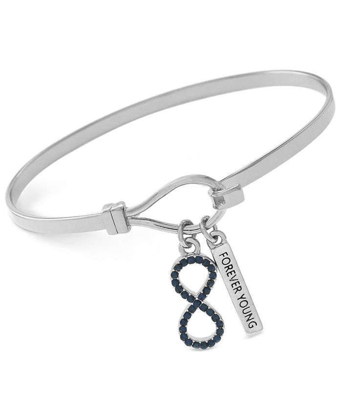 "BCBGeneration - Silver-Tone ""Forever Young"" Infinity Bangle Bracelet"
