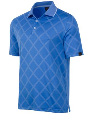 Image of Greg Norman for Tasso Elba Men's Diamond Jacquard Performance Golf Polo
