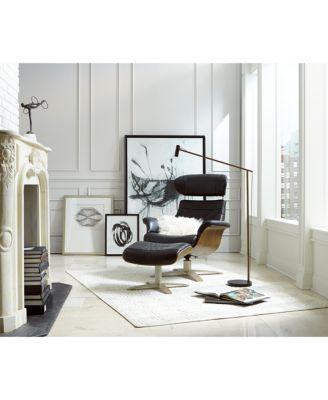 Annaldo Leather Swivel Chair & Ottoman 2-Pc. Set