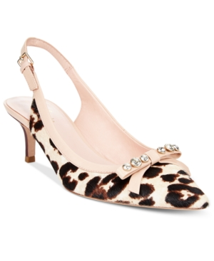 kate spade new york Palina Animal-Print Slingback Pumps Women's Shoes