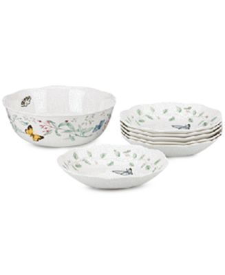 Lenox Dinnerware, Butterfly Meadow 7 Piece Pasta/Salad Set