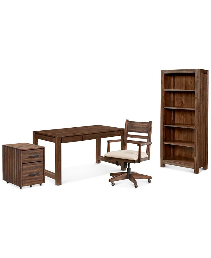 Furniture - Avondale Home Office , 4-Pc. Set (Desk, File Cabinet, Desk Chair & Bookcase)