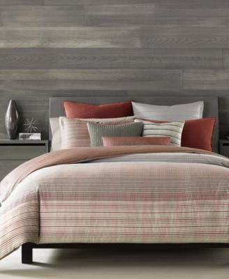 Hotel Collection Modern Geo Stripe King Duvet Cover, Only at Macy's