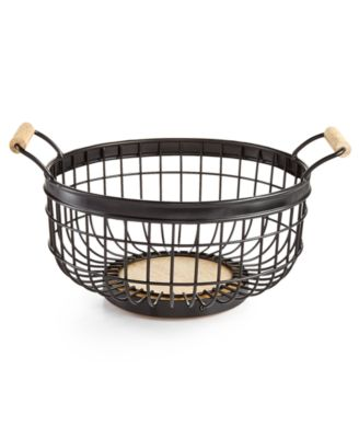 Martha Stewart Collection Wire Basket, Only at Macy's