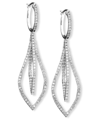14k White Gold Diamond Chandelier Earrings (1/2 ct. t.w.)