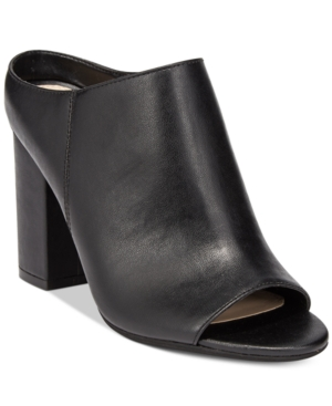 Bar Iii Matilda Peep-Toe Block-Heel Mules, Only at Macy's Women's Shoes