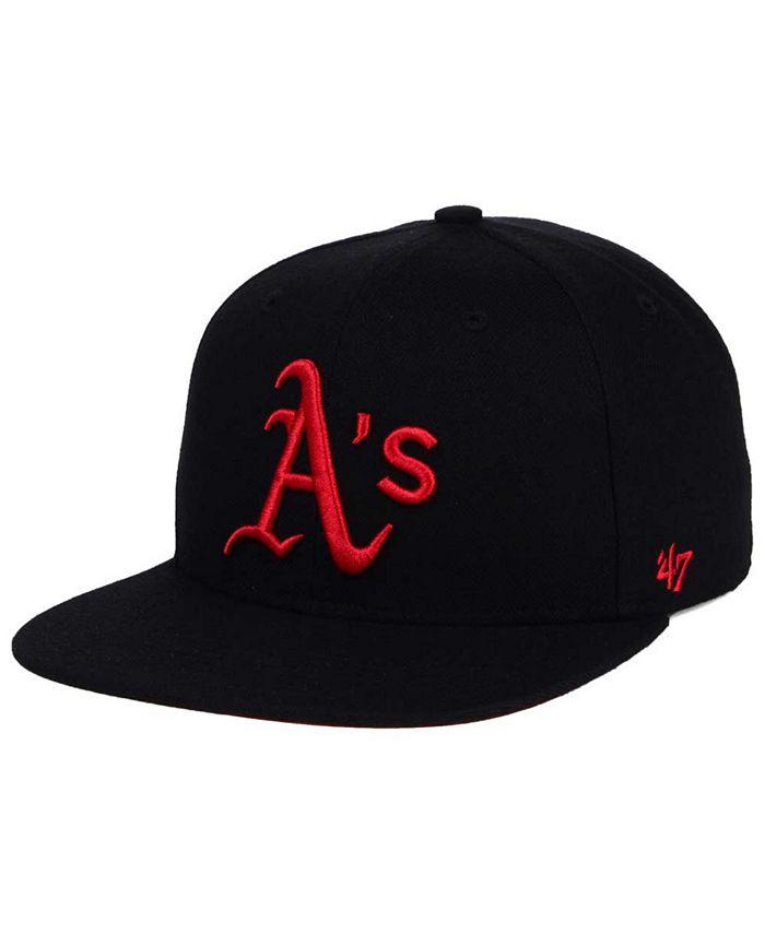 '47 Brand - Oakland Athletics Black Red Shot Snapback Cap