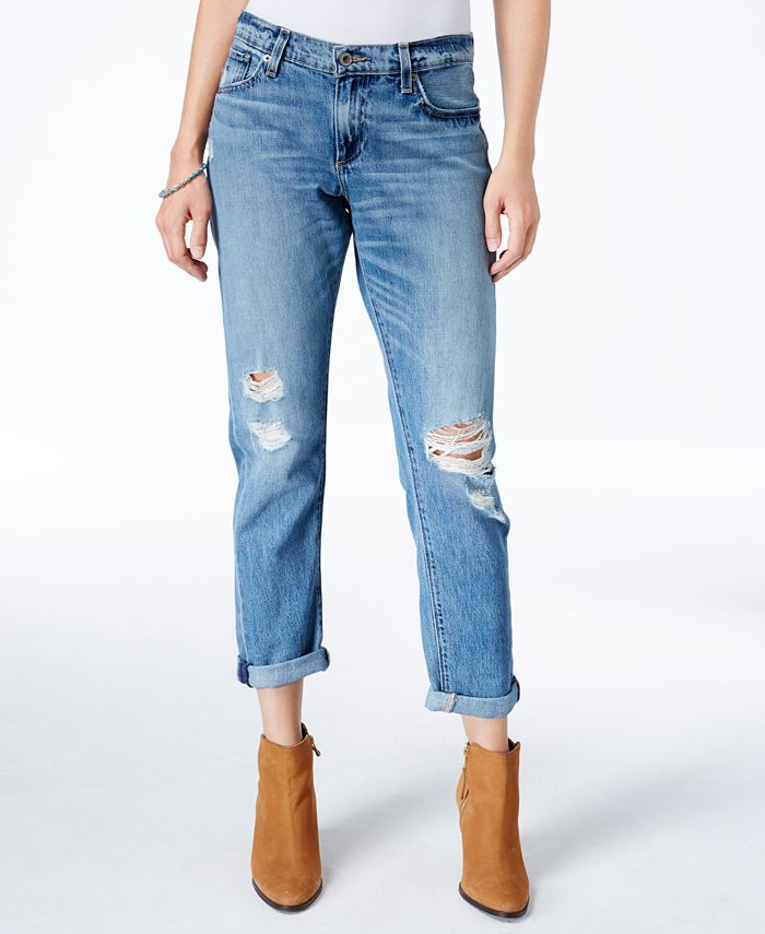 Lucky Brand - Sienna Ripped Bixel Wash Boyfriend Jeans