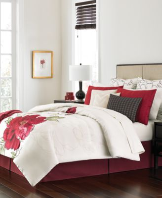 Martha Stewart Collection Plum Blossom 14-Pc. Queen Comforter Set, Only at Macy's