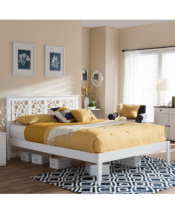 Furniture Pensley Modern & Contemporary Geometric Pattern Platform Beds, Quick Ship