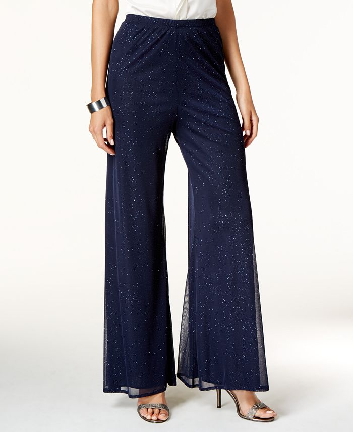 MSK - Wide-Leg Sparkle Dress Pants