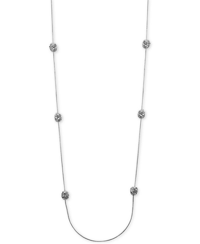 Anne Klein - Silver-Tone Crystal Cluster Illusion Necklace