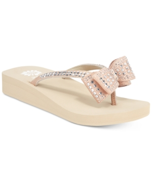Yellow Box Zaire Bow Flip-Flops Women's Shoes