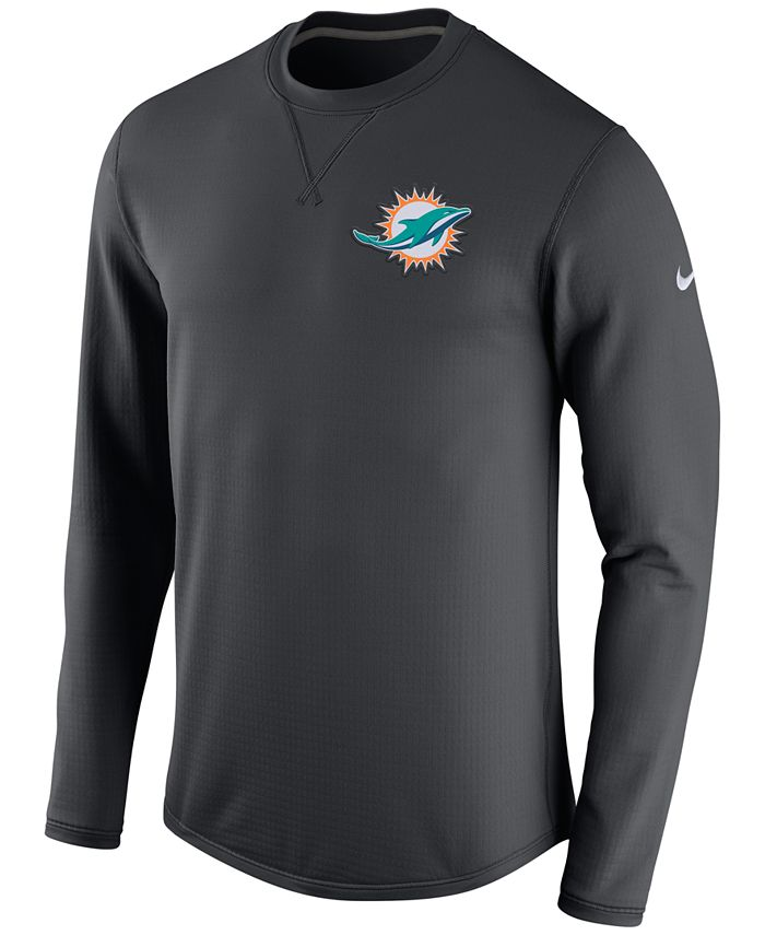 Nike - Men's Miami Dolphins Modern Crew Long-Sleeve T-Shirt