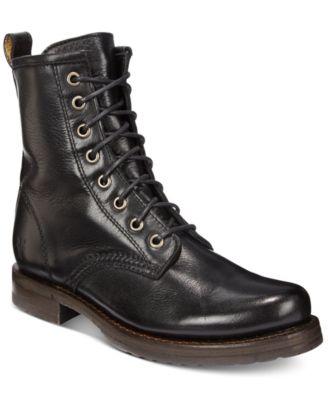 Veronica Combat Leather Booties