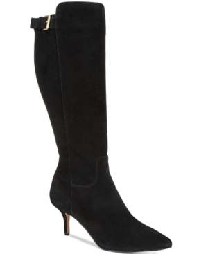 Adrienne Vittadini Swanny Tall Dress Boots Women's Shoes