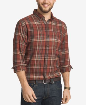 Image of G.H. Bass & Co. Men's Plaid Flannel Long-Sleeve Shirt