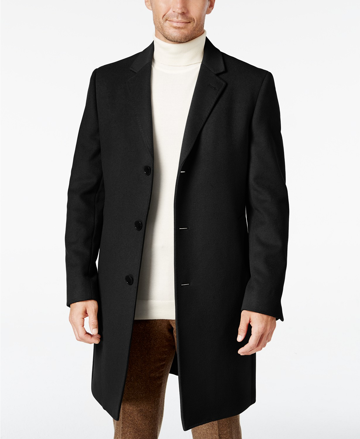 (74% OFF Deal) Ralph Lauren Men's Luther Wool Blend Top Coat $129.99