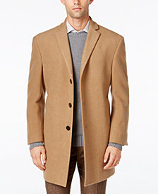 Calvin Klein Men's Prosper Wool-Blend X-Fit Overcoat