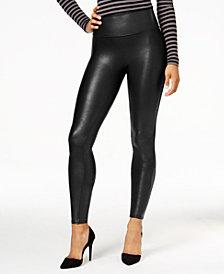 SPANX Women's  Faux-Leather Tummy Control Leggings