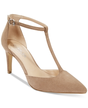 Charles by Charles David Lodge T-Strap Mid-Heel Pumps Women's Shoes