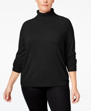 Shop 1960s Style Blouses, Shirts and Tops Karen Scott Plus Size Turtleneck Sweater Only at Macys $9.99 AT vintagedancer.com