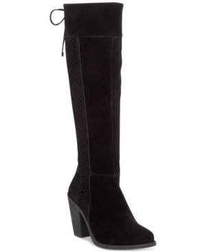 Jessica Simpson Ciarah Braided-Detail Tall Boots Women's Shoes
