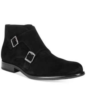 Bar Iii Men's Dante Double Monk Chukka Suede Boots, Only at Macy's Men's Shoes