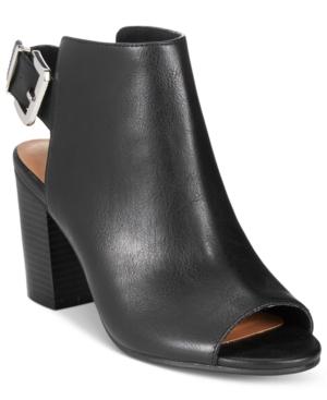 Rampage Twixie Slingback Peep-Toe Booties Women's Shoes