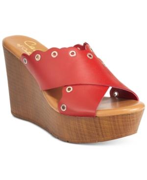 Callisto Darcii Platform Wedge Sandals Women's Shoes