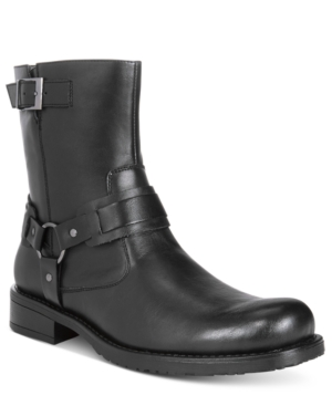 Unlisted by Kenneth Cole Men's Slightly Off Plain-Toe Moto Boots Men's Shoes