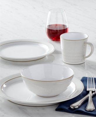 Natural Canvas Stoneware 4-Piece  Place Setting