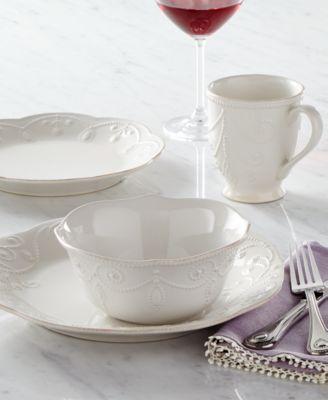Dinnerware, French Perle Sugar and Creamer Set