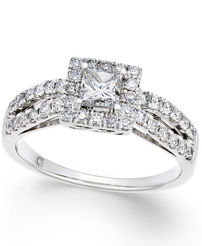 Macy's - Diamond Engagement Ring (1 ct. t.w.) in 14k White Gold