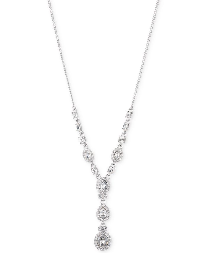 Givenchy - Multi-Crystal and Pavé Lariat Necklace