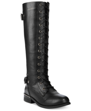 Wanted Cocktail Lace-Up Riding Boots Women's Shoes