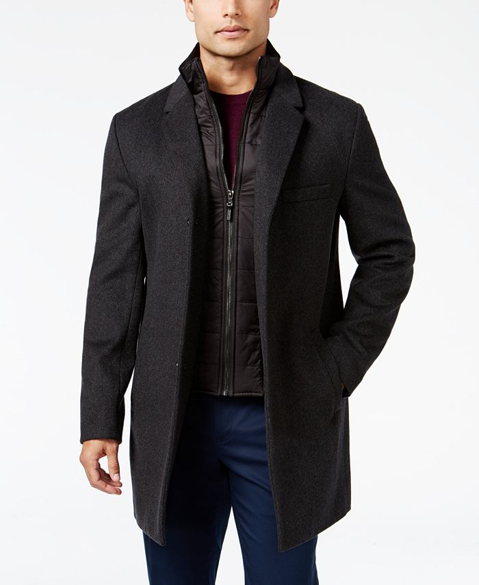 Michael Kors - Men's Water-Resistant Overcoat with Zip-Out Liner