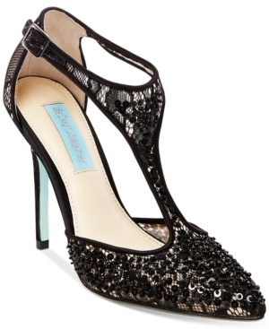 Blue By Betsey Johnson Eliza T-Strap Pumps Women's Shoes