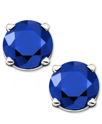 14k White Gold Sapphire Stud Earrings (1 ct. t.w.)