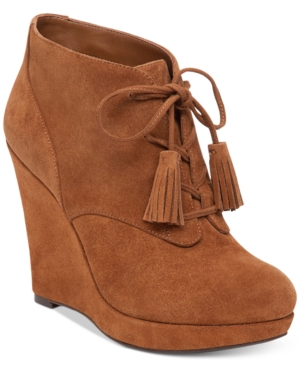Jessica Simpson Cyntia Lace-Up Wedge Booties Women's Shoes