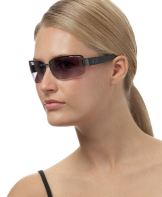 A/X Armani Exchange Rimless Rectangle Sunglasses