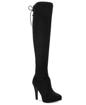 Report Narcissa Over-The-Knee Stretch Boots Women's Shoes