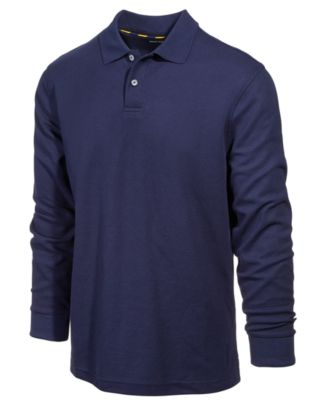Image of Club Room Men's Performance Sun Protection Long-Sleeve Polo