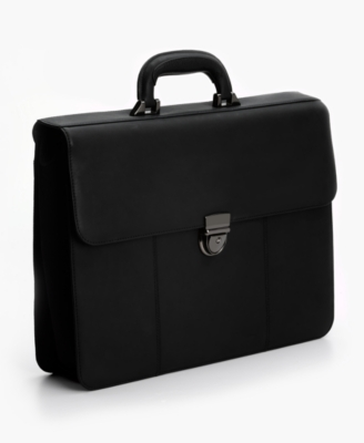 Perry Ellis Kensington Structured Leather Briefcase